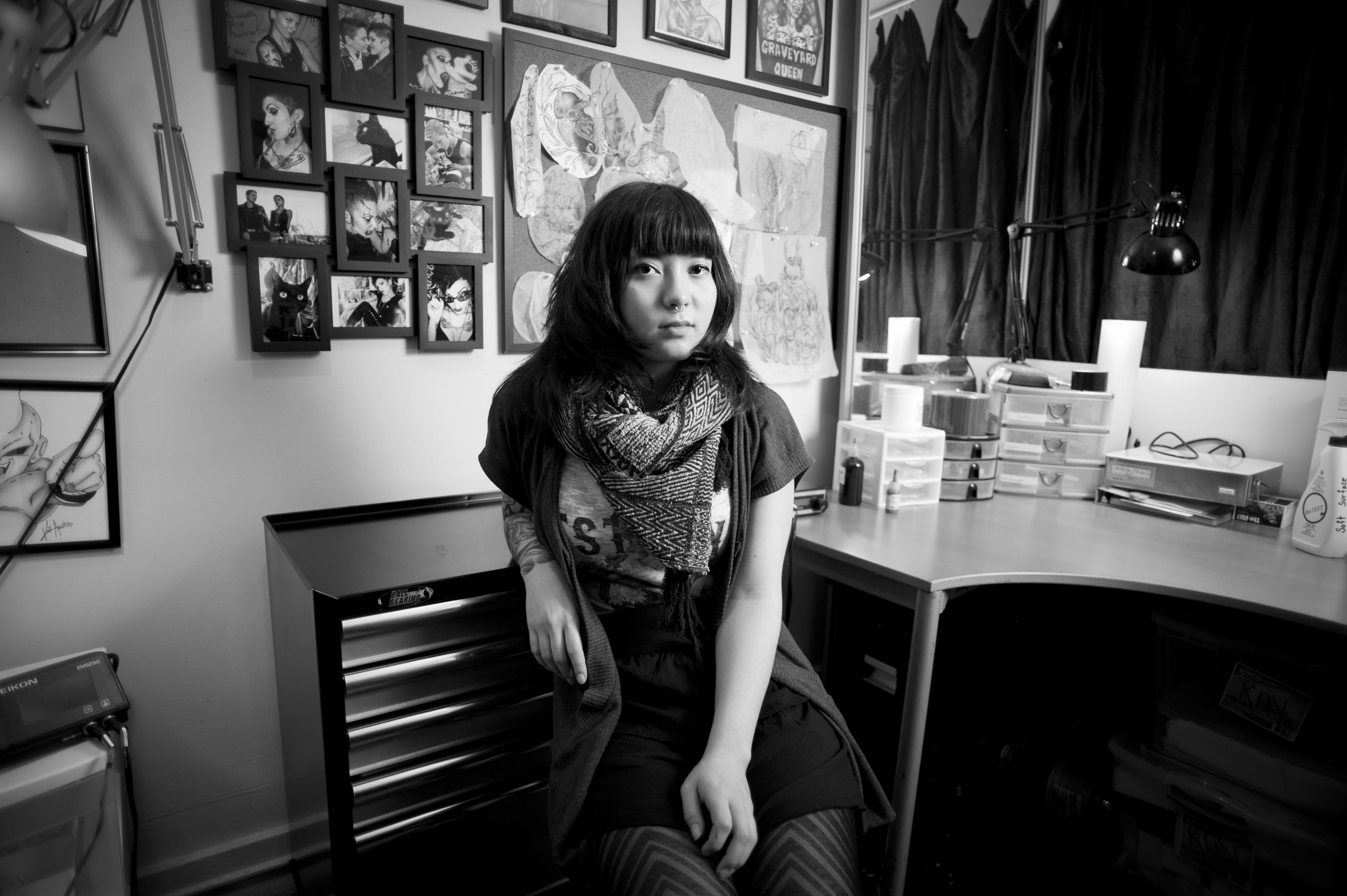 Environmental Portrait | Tattoo Artist | Tijana Martin Photography